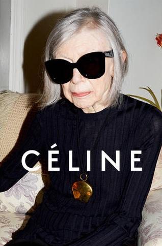 A sus 80 años es imagen de Céline