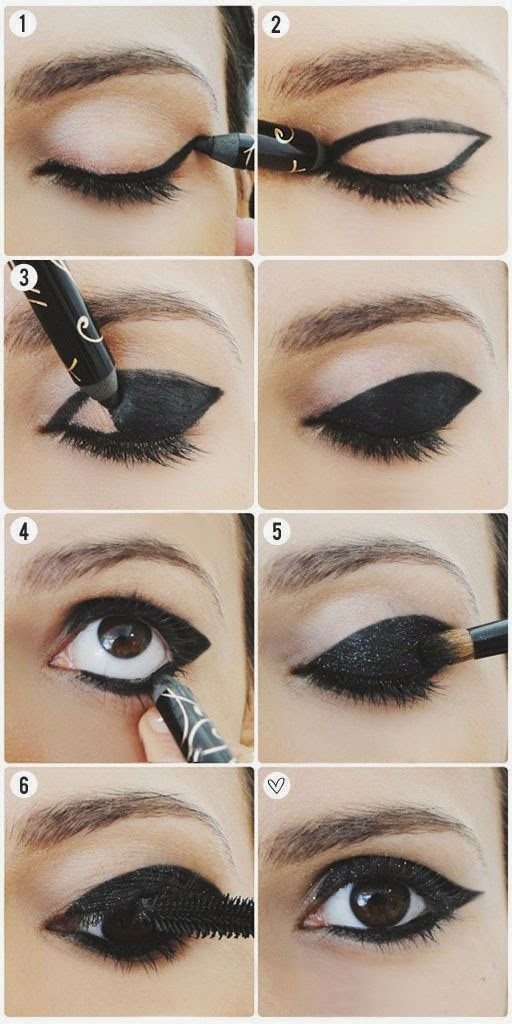 Black Shiny Eyelids Makeup 11111