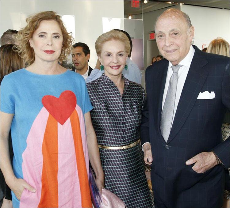 Agatha Ruiz de la Prada, Carolina Herrera  y Reinaldo Herrera