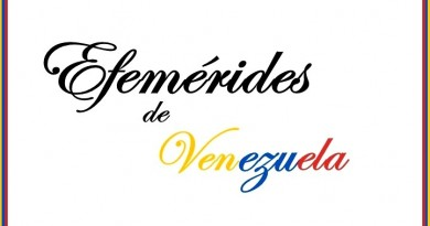 Efemerides de Venezuela . 2