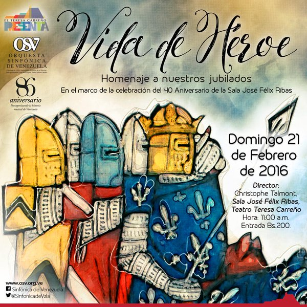 La Orquesta Sinfónica de Venezuela rendirá homenaje a sus jubilados