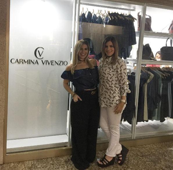 Diseñadora Carmina Vivenzio inaugura la primera tienda de su marca