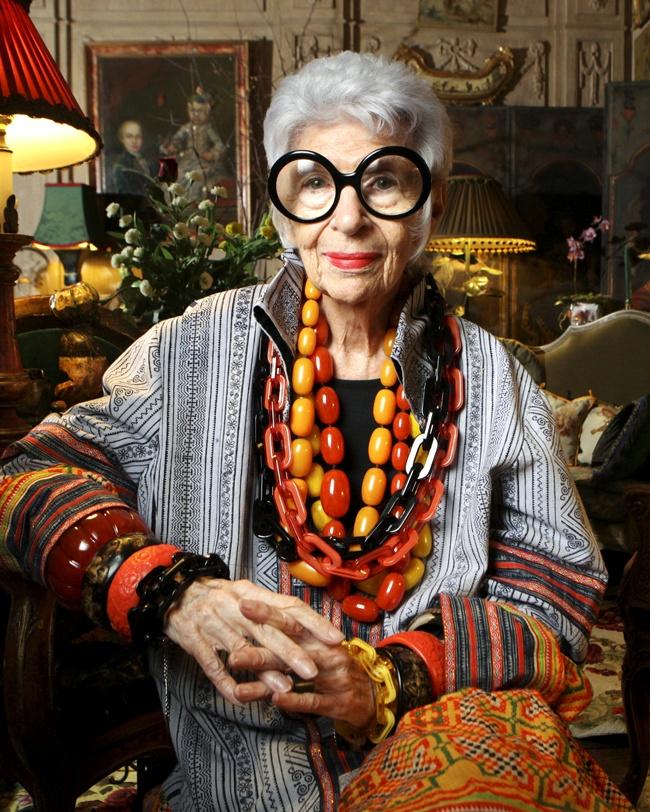 Los 99 años de la increíble y exótica Iris Apfel