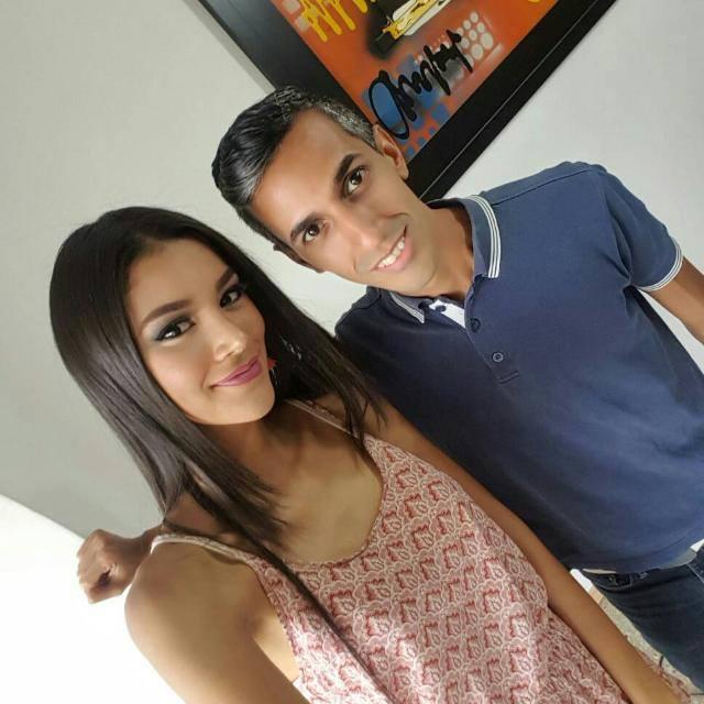 Francisco junto a su candidata de este año para el Miss Miranda