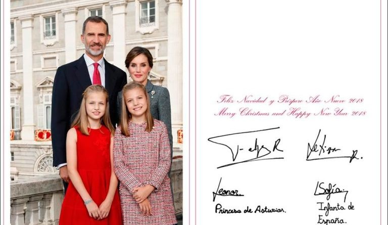tarjeta navideña reyes de españa 2017
