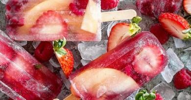 fresas helado