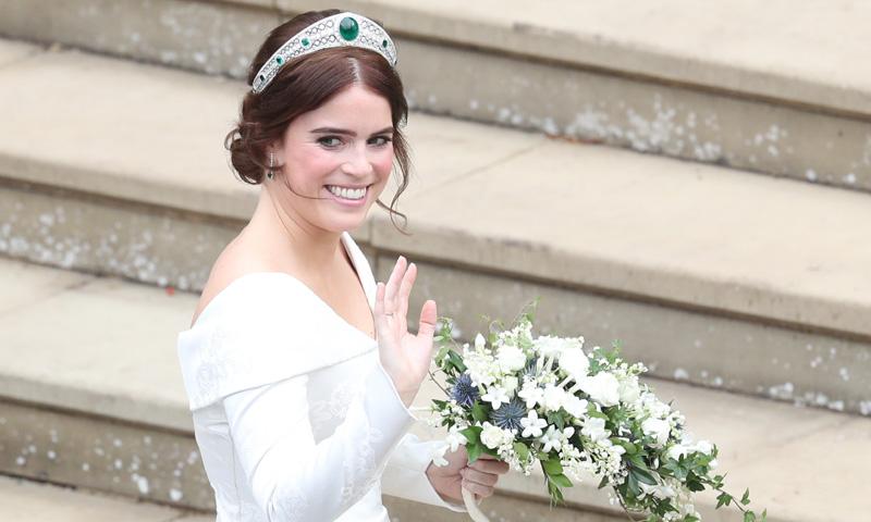 Eugenia de York y su maravillosa tiara nupcial…ahhh y sín velo