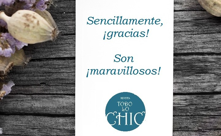 Gracias_Revista Todo lo Chic