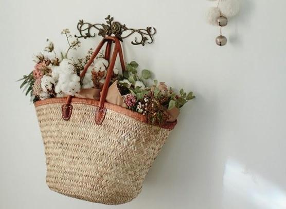 Las cestas con flores ¡Completamente hermosas!