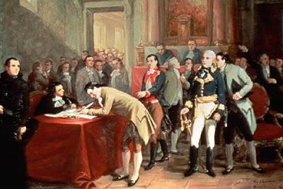 La firma del Acta de la Independencia de Venezuela