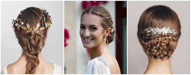 Peinados de novia con trenzas 2016