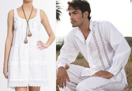 Vestido blanco fiesta hawaiana