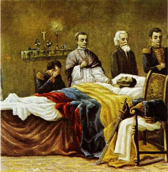Conmemoración del fallecimiento del Libertador Simón Bolívar
