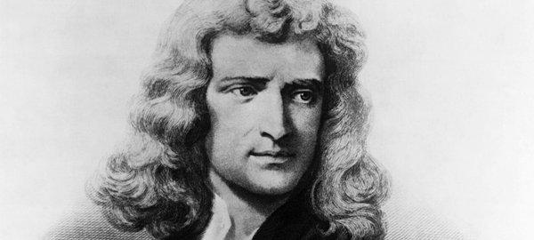 Isaac Newton, de fuerza, acción y reacción, e inercia.