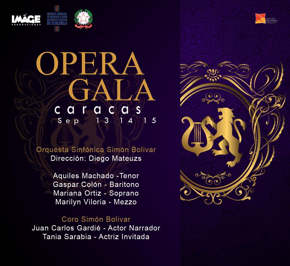 OPERA GALA CARACAS: Un amor trasatlántico en clave operística llega al Teatro de Chacao para 3 únicas funciones
