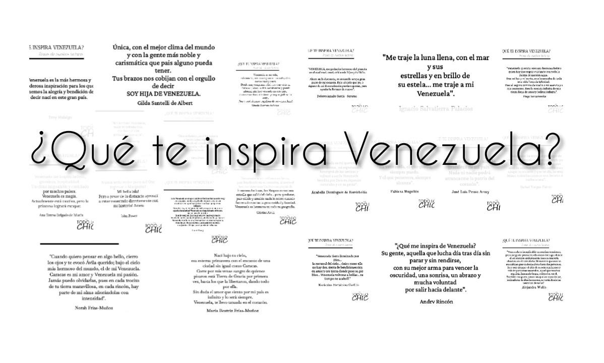 ¿Qué te inspira Venezuela? frases de nuestros lectores
