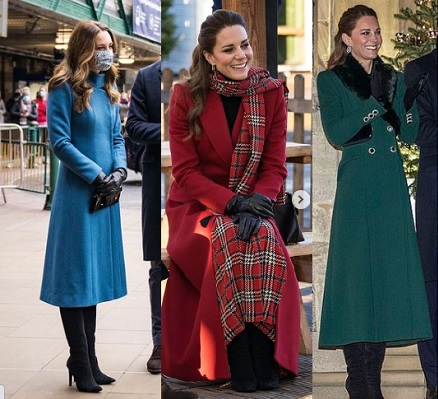 Los abrigos chic de Kate Middleton