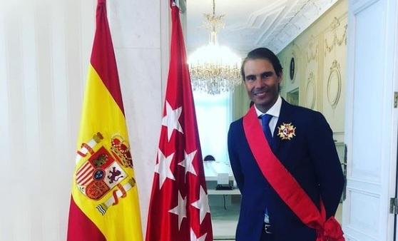 Rafa Nadal condecorado con la Gran Cruz de la Orden del Dos de Mayo