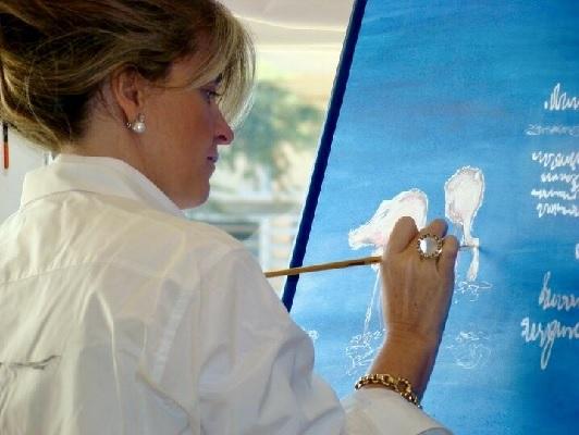 El arte y la moda de la mano de Esther Rubiella y sus sedas pintadas a mano