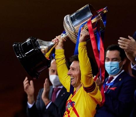 El Barça ganó la Copa del Rey por goleada